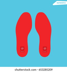 Red Insole for shoes