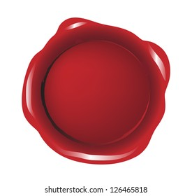Red isolated seal wax vector
