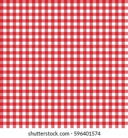 Red italian tablecloth. Picnic tale cloth vector. Pattern for card or banner. Seamless illustration.