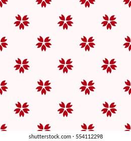 Red japanese cherry sakura pattern background