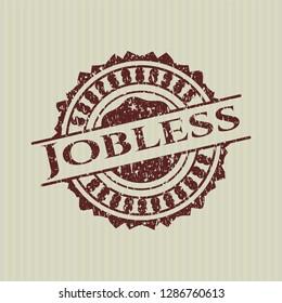 Red Jobless distress grunge stamp