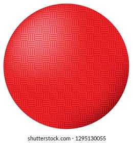 Red Kickball Dodgeball ball Vector Illustration Icon