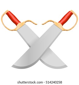 Red Kung Fu Butterfly knives illustration