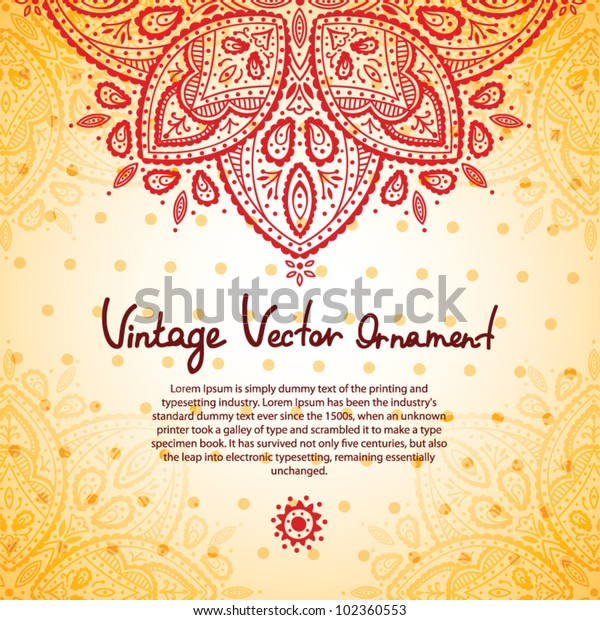 Red lace ornament background