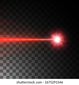 red laser beam. vector illustration