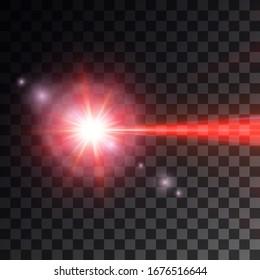 red laser beam. vector illustration