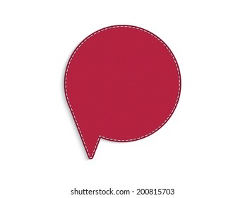 Red leather speech circle bubble