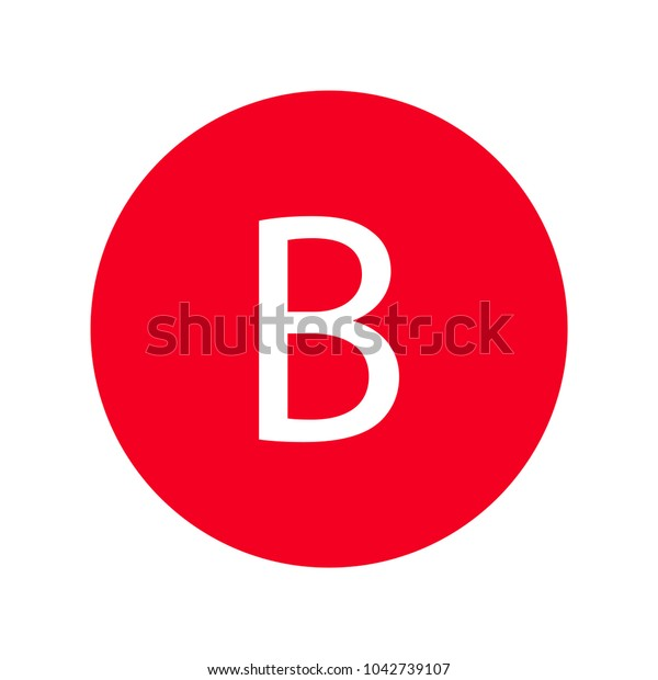 Red Letter Bicon Stock Vector (Royalty Free) 1042739107