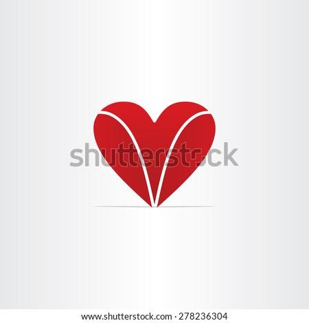 Red Letter V Heart Valentine Symbol Stock Vector Royalty Free