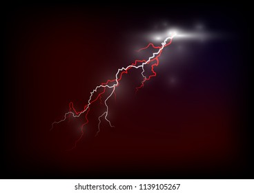 the red lightening super flash and the dark sky