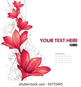 Red lilies design, vector illustration, eps-10
