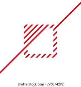 red line continues envelope forming a square vector