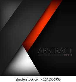 Red line geometric black space vector background