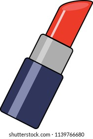 Red lipstick white background