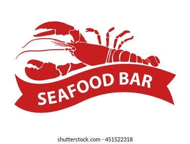 red lobster, vector