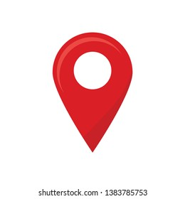 Red Location Map Pointer Symbol