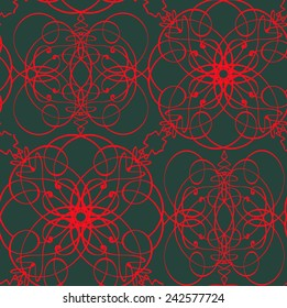 red loop seamless pattern, vector design