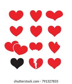 red love vector design, valentine day.