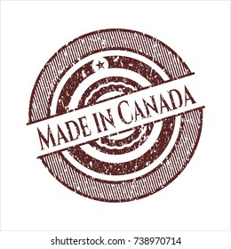 Red Made in Canada grunge seal
