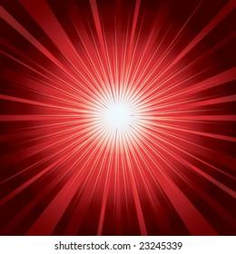 Red magic shining background