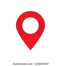 Red maps pin. Location map icon. Location pin. Pin icon vector.