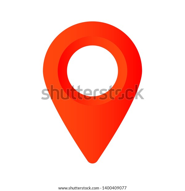 Red Maps Pin Location Map Icon Stock Vector (Royalty Free