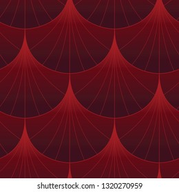 Red and Maroon Gradient Shell Seamless Repeat Vector Pattern