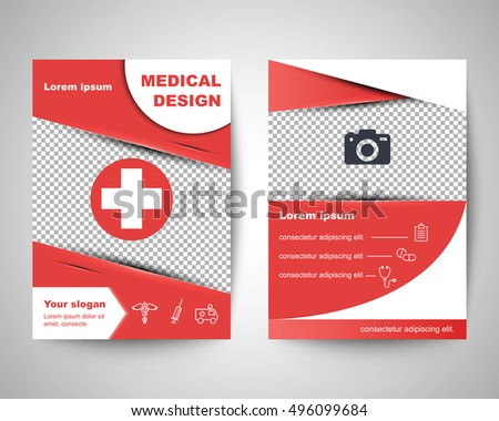 Red Medical Flyer Layout Template Brochure Stock Vector Royalty