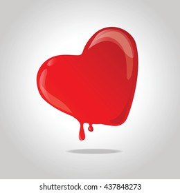 Red melting heart.