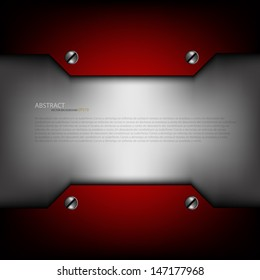 red metal background for text and message design grey sample text modern technology website metal pattern design