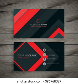 red minimal dark business card design