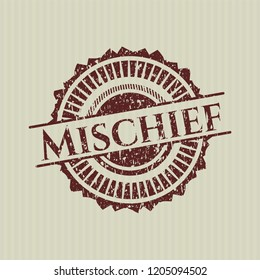 Red Mischief distress rubber stamp