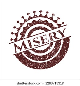 Red Misery with rubber seal texture