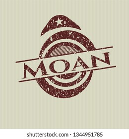 Red Moan rubber grunge stamp