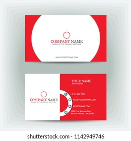 red modern business card