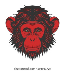 Red monkey head