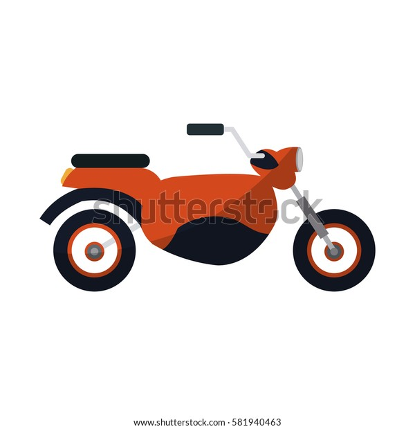 red motorcycle icon