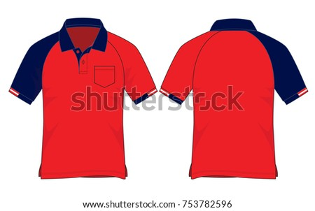 d64948a10 ... Vector (Royalty Free) 753782596 - Shutterstock. Red / Navy blue sport  polo shirt design