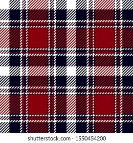 Red, Navy blue and white modern tartan plaid Scottish seamless pattern.Texture from plaid,tablecloths, clothes, shirts, dresses, jacket, skirt, paper, blankets and other textile products.