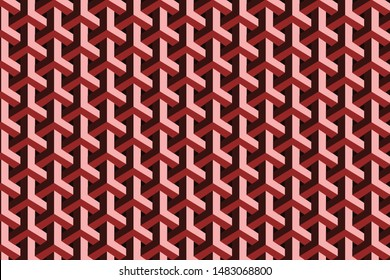 The red net geometric pattern for design.