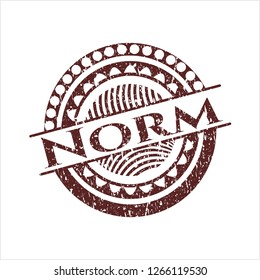 Red Norm distressed grunge seal