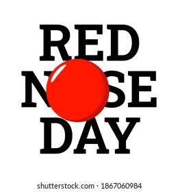 Red Nose Day illustration. Vector. Flat design.