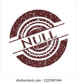Red Null grunge stamp