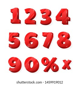 red numbers for discounted billboards that look beautiful.