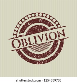 Red Oblivion distress rubber stamp