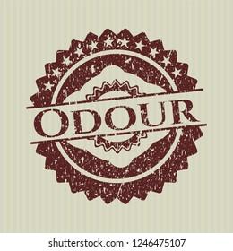 Red Odour grunge stamp
