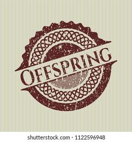 Red Offspring distress rubber grunge texture stamp