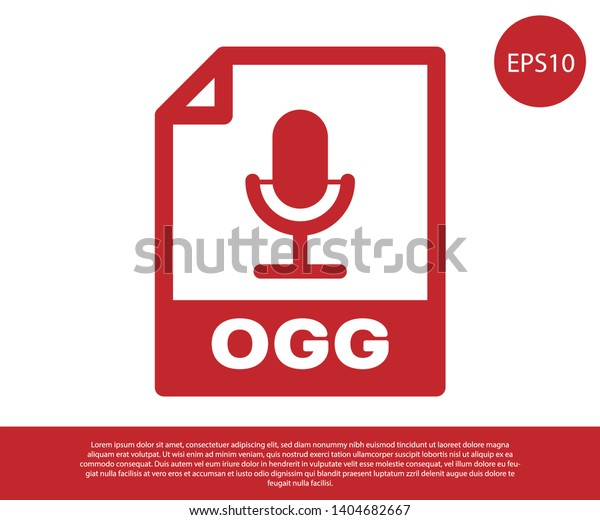 Red Ogg File Document Icon Download Stock Vector (Royalty