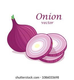 Red onion cut into pieces