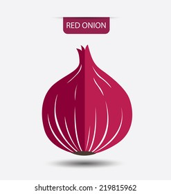 red onion, vegetables vector illustration